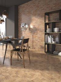Legno Quadra / Muro Mattone<br />Floor - Art. 7672<br />Wall - Art. 7062