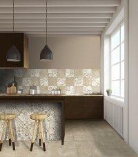 Classic Beige / Cementina Beige Noce<br />Floor - Art. 8097<br />Wall - Art. 8061