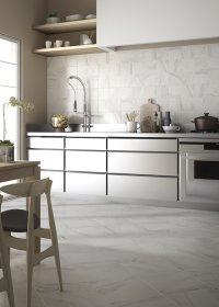 Marmo Mix - per cucina<br />Floor - Art. 8090<br />Wall - Art. 2065