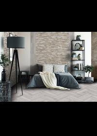 Minerva Grigio / Muro legno Mix<br />Floor - Art. 3004<br />Wall - Art. 2000