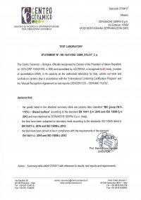 34x34 - Caratteristiche Tecniche EN 14411/ISO 13006-L - (1/3)