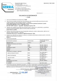 D.o.P. code 34348 RO