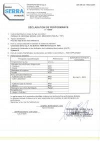 D.o.P. code 15608 FR