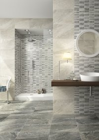 Prisma<br />Floor - Art. 8041<br />Mosaic - Art. 2072 <br />Wall - Art. 7040