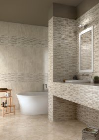 Tevere<br />Floor - Art. 8083<br />Mosaic - Art. 2077<br />Wall - Art. 7683